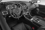 High angle dashboard view of a 2007 - 2012 Aston Martin DBS Volante Convertible.
