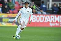 WASHINGTON, DC - MARCH 07: Nicolas Figal #5 of Inter Miami CF moves the ball during a game between Inter Miami CF and D.C. United at Audi Field on March 07, 2020 in Washington, DC.