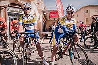 Preben Van Hecke (BEL/Sport Vlaanderen Baloise) & Kevin Deltombe (BEL/Sport Vlaanderen Baloise) at the start<br /> <br /> 27th Challenge Ciclista Mallorca 2018<br /> Trofeo Campos-Porreres-Felanitx-Ses Salines: 176km