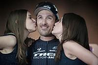 podium kisses for race winner: Fabian Cancellara (CHE/TrekFactoryRacing)<br /> <br /> Ronde van Vlaanderen 2014