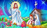 Jesus Christ blessing a family