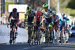 Riders cross the finish line at the end of Stage 8 of Paris-Nice 2021, running 92.7km from Le Plan-du-Var to Levens, France. 14th March 2021.<br /> Picture: ASO/Fabien Boukla | Cyclefile<br /> <br /> All photos usage must carry mandatory copyright credit (© Cyclefile | ASO/Fabien Boukla)