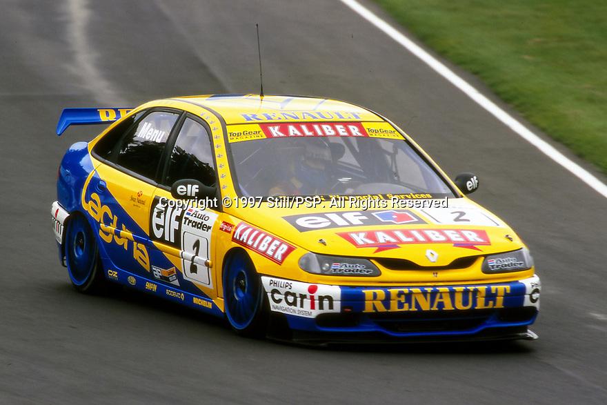 1997 British Touring Car Championship. #2 Alain Menu (SUI). Williams Renault Dealer Racing. Renault Laguna.