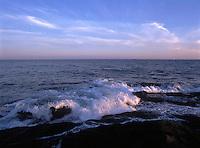Surf at sunset. Sachuest National Wildlife Refuge. Middletown, Rhode Island.
