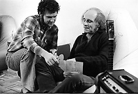Undated file photo File photo - Montreal , Quebec,  CANADA - <br /> Robert Charlebois and Leo Ferre in a Montreal appartment.<br /> <br /> This could be summer 1974 or late sixities and is believes to be exclusive photos