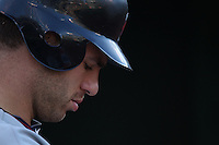 OAKLAND, CA - JULY 30:  Joe Mauer #7 of the Minnesota Twins stands in the dugout during the game against the Oakland Athletics at the Oakland-Alameda County Coliseum on July 30, 2011 in Oakland, California. Photo by Brad Mangin