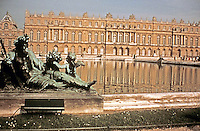 Le Seine, a sculpture designed by Girardon, cast by the Marsy brothers between 1685 and 1694. One of 16 allegorical figures placed around the Water Terrace on the west side of the Palace of Versailles.