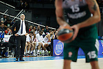 Basketball Real Madrid´s coach Pablo Laso during Euroleague basketball match in Madrid, Spain. October 17, 2014. (ALTERPHOTOS/Victor Blanco)