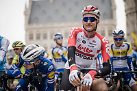 Tim Wellens (BEL/Lotto-Soudal) at the race start in Leuven<br /> <br /> 59th De Brabantse Pijl - La Flèche Brabançonne 2019 (1.HC)<br /> One day race from Leuven to Overijse (BEL/196km)<br /> <br /> ©kramon