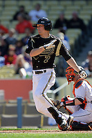 February 28 2010: Joe Luftus of Vanderbilt  during game against Oklahoma State at Dodger Stadium in Los Angeles,CA.  Photo by Larry Goren/Four Seam Images