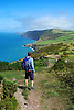 Walking the Ceredigion Coastal Path, West Wales<br /> <br /> Stock Photo by Paddy Bergin