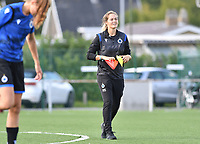 Brugge's assistant coach Valerie Van Slycke pictured during a female soccer game between Club Brugge Dames YLA and Racing Genk Ladies on the second matchday of the 2020 - 2021 season of Belgian Scooore Women s SuperLeague , saturday 5 th of September 2020  in Brugge , Belgium . PHOTO SPORTPIX.BE | SPP | DAVID CATRY