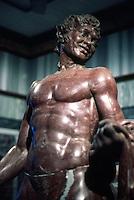 Greek Art:  Satyr, Roman.  Red marble.  J. Paul Getty Museum.  Photo '86.
