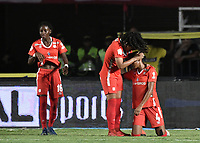 CALI - COLOMBIA, 24-09-2019: Rossy Caicedo y Alejandra Ararat del América celebran después del partido por la final ida de la Liga Femenina Aguila 2019 entre América Cali y Medellin Petrolera jugado en el estadio Pascual Guerrero de la ciudad de Cali. / Rossy Caicedo and Alejandra Ararat of América celebrate after first leg final match as part of Aguila Women League 2019 between America de Cali and Independiente Medellin played at Pascual Guerrero stadium in Cali. Photo: VizzorImage / Gabriel Aponte / Staff