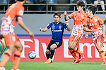 Gamba Osaka Midfielder Kurata Shu (L) fights for the ball with Jeju United Defender Baek Donggyu (R) during the AFC Champions League 2017 Group H match Between Jeju United FC (KOR) vs Gamba Osaka (JPN) at the Jeju World Cup Stadium on 09 May 2017 in Jeju, South Korea. Photo by Marcio Rodrigo Machado / Power Sport Images