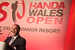 ISPS Handa Wales Open 2012.Celtic Manor owner Sir Terry Matthews speaking at the gala dinner...29.05.12.©Steve Pope