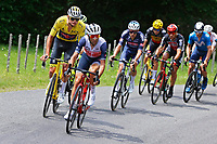 2nd July 2021; Le Creusot, France; VAN DER POEL Mathieu (NED) of ALPECIN-FENIX and NIBALI Vincenzo (ITA) of TREK - SEGAFREDO during stage 7 of the 108th edition of the 2021 Tour de France cycling race, a stage of 248,1 kms between Vierzon and Le Creusot