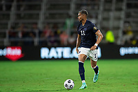 ORLANDO, FL - JULY 20: Ariel Lassiter #11 of Costa Rica dribbles the ball during a game between Costa Rica and Jamaica at Exploria Stadium on July 20, 2021 in Orlando, Florida.