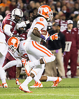 The tenth ranked South Carolina Gamecocks host the 6th ranked Clemson Tigers at Williams-Brice Stadium in Columbia, South Carolina.  USC won 31-17 for their fifth straight win over Clemson.  Clemson Tigers wide receiver Sammy Watkins (2)