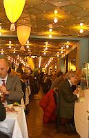 The bustling interior at the gastronomic restaurant Sture Hof Stockholm, Sweden, Sverige, Europe