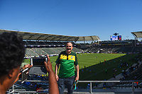 Carson, CA - Thursday August 03, 2017: Brazil fans prior to a 2017 Tournament of Nations match between the women's national teams of Australia (AUS) and Brazil (BRA) at the StubHub Center.