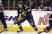 February 17th 2007:  Teppo Numminen (27) of the Buffalo Sabres looks to pass vs. the Boston Bruins at HSBC Arena in Buffalo, NY.  The Bruins defeated the Sabres 4-3 in a shootout.