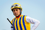 OLDSMAR, FL - JANUARY 21: Sonoma Crush #4 (yellow cap), ridden by Daniel Centeno, winner of the 4yr olds and up #1 claiming race, on Skyway Festival Day at Tampa Bay Downs on January 21, 2017 in Oldsmar, Florida. (Photo by Douglas DeFelice/Eclipse Sportswire/Getty Images)