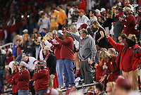 Arkansas fans wave their phones, Saturday, November 7, 2020 during a football game at Donald W. Reynolds Razorback Stadium in Fayetteville. Check out nwaonline.com/201108Daily/ for today's photo gallery. <br /> (NWA Democrat-Gazette/Charlie Kaijo)