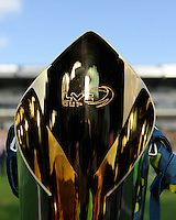 Detail of the trophy during the LV= Cup Final match between Leicester Tigers and Northampton Saints at Sixways Stadium, Worcester on Sunday 18 March 2012 (Photo by Rob Munro, Fotosports International)