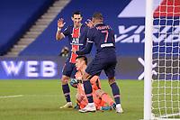 24th December 2020; Paris, France; French League 1 football, Paris St Germain versus Strasbourg; Goal celebrations from ANGEL DI MARIA PSG