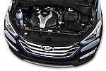 High angle engine detail of a  .2013 Hyundai Santa Fe Sport