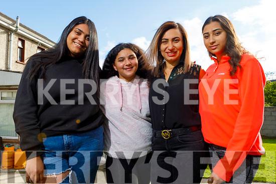 Ciara, Maria, Rasha Amin and Amy Samy at their home in Tralee on Friday.