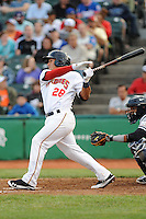 Brooklyn Cyclones infielder Phillip Evans (28) during game against the Staten Island Yankees at MCU Park on June 18, 2012 in Brooklyn, NY.  Brooklyn defeated Staten Island 2-0.  Tomasso DeRosa/Four Seam Images