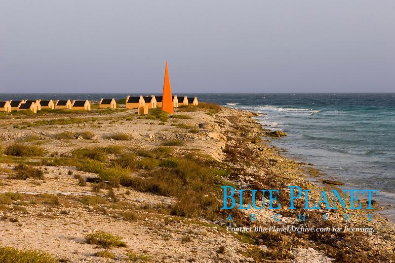 red slave huts, red slave dive site, Bonaire