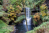 The Lower South Falls during the Autumn at Silver Falls State Park in Oregon, USA.