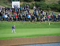 17.10.2014. The London Golf Club, Ash, England. The Volvo World Match Play Golf Championship.  Day 3 group stage matches.  Graeme McDowell (NIR) on the eighth green.