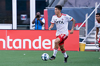 FOXBOROUGH, MA - JUNE 26: Kazu #88 of North Texas SC during a game between North Texas SC and New England Revolution II at Gillette Stadium on June 26, 2021 in Foxborough, Massachusetts.