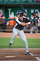 Sam Hilliard (25) of the Grand Junction Rockies at bat against the Ogden Raptors in Pioneer League action at Lindquist Field on July 6, 2015 in Ogden, Utah.Ogden defeated Grand Junction 8-7.  (Stephen Smith/Four Seam Images)