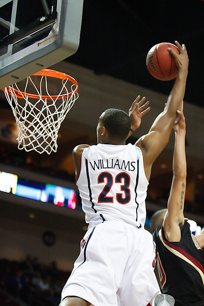 Nov. 26, 2010. Las Vegas, NV: The Arizona Wildcats' Derrick Williams slams one down in the Las Vegas Invitational at the Orleans Arena.