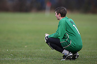 A Sunday football goalkeeper looks on during a match at Hackney Marshes - 09/12/07 - MANDATORY CREDIT: Gavin Ellis/TGSPHOTO - Self billing applies where appropriate - Tel: 0845 094 6026