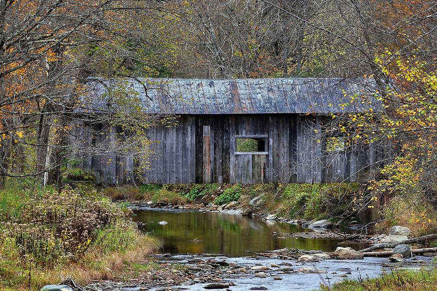 MacMillan Covered Bridge in Autumn, Grafton, Vermont, USA