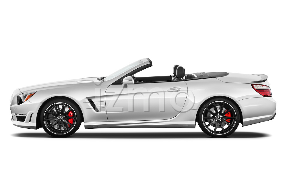 Driver side profile view of a 2013 Mercedes-Benz SL-Class SL63 AMG Convertible