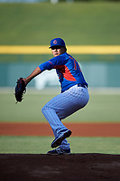 AZL Cubs 2 starting pitcher Manuel Espinoza (73) during an Arizona League game against the AZL Dbacks on June 25, 2019 at Sloan Park in Mesa, Arizona. AZL Cubs 2 defeated the AZL Dbacks 4-0. (Zachary Lucy/Four Seam Images)