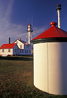 AJ2816, lighthouse, Lake Superior, Upper Peninsula, U.P., Michigan, Whitefish Point Lighthouse (oldest working lighthouse on Lake Superior) in Whitefish Point in the state of Michigan.