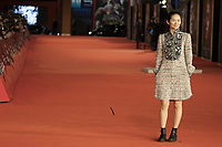 """Chinese director Chloe Zhao poses  on the red carpet for the screening of the film """"Eternals at the 16th edition of the Rome Film Fest in Rome, on October 24, 2021.<br /> UPDATE IMAGES PRESS"""