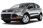 Low aggressive front three quarter view of a 2013 Ford Escape S
