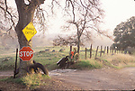 Entrance to the Vaira Ranch off a country road in Amador County, Calif.