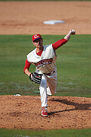 Clearwater Threshers pitcher Cody Forsythe (31) looks in for the sign during the first game of a doubleheader against the Jupiter Hammerheads on July 25, 2015 at Bright House Field in Clearwater, Florida.  Jupiter defeated Clearwater 8-5.  (Mike Janes/Four Seam Images)
