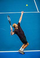 Amstelveen, Netherlands, 18  December, 2020, National Tennis Center, NTC, NK Indoor, National  Indoor Tennis Championships, Doubles   : Glenn Smits (NED)<br /> Photo: Henk Koster/tennisimages.com