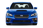 Car photography straight front view of a 2015 Subaru Wrx - 4 Door Sedan 2WD Front View
